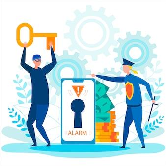 銀行口座とデータのインターネットセキュリティのハッキング