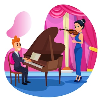 Информационный дуэт скрипка и фортепиано.