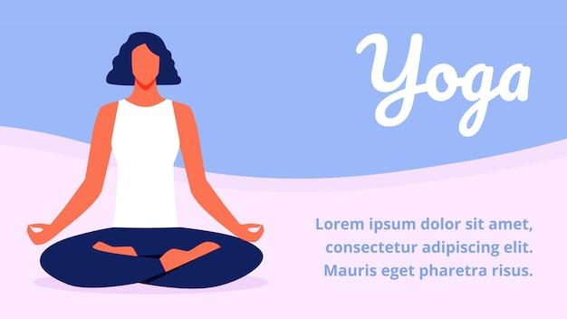 Женщина в позе лотоса. релаксация и медитация