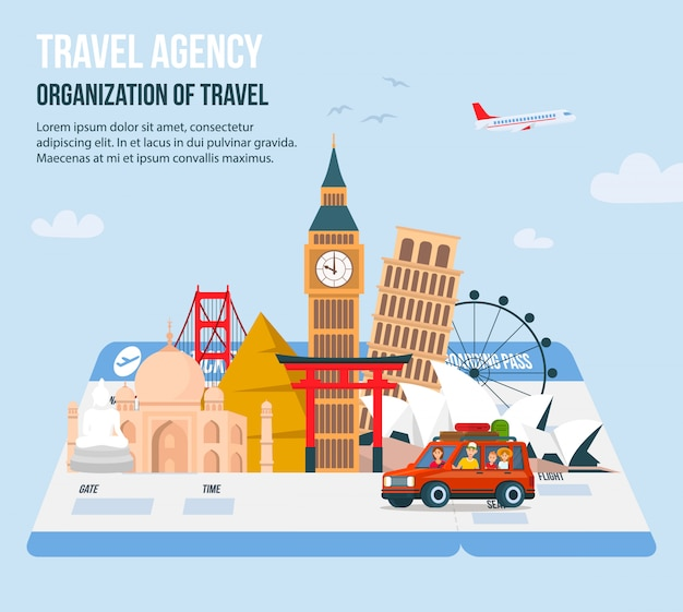 旅行代理店のためのデザイン