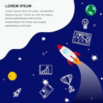 Шаблон веб-баннера для глобального развития бизнеса