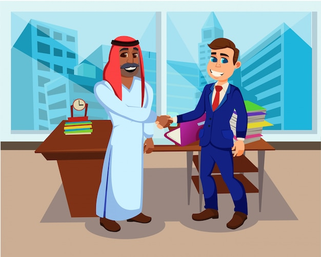 国際ビジネスマンパートナーハンドシェイク