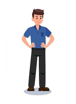 フォーマルな服装の若い男がベクトルイラスト