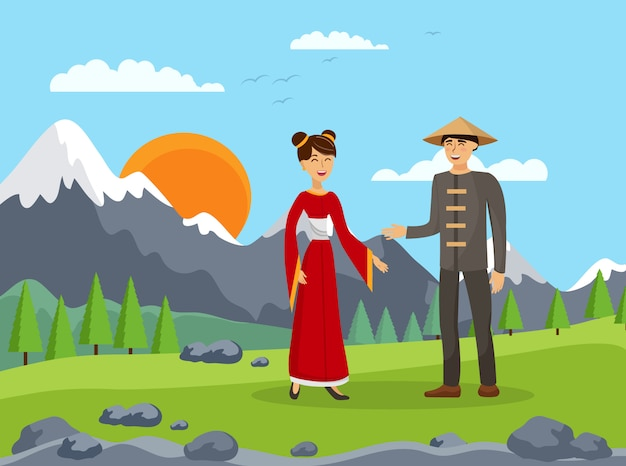 中国のカップル