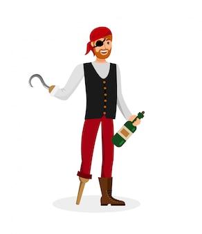 Пиратская бутылка с ромом
