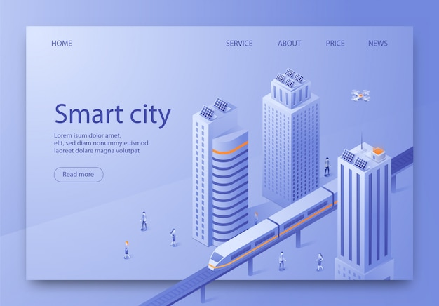 等尺性はスマートシティランディングページと書かれています。