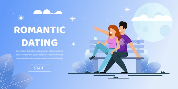 カップル座りベンチ公園デートロマンチック夜月