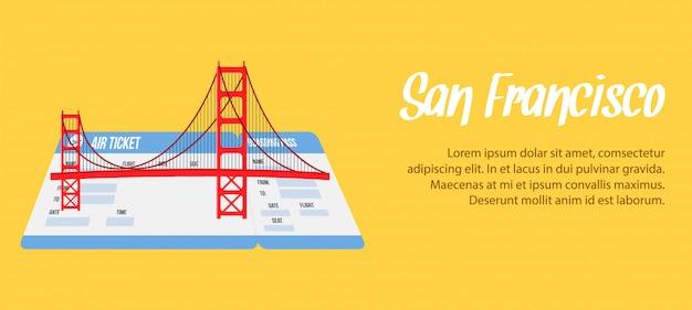サンフランシスコベクトルバナー