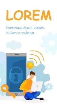 Векторный шаблон брошюры защиты личных данных