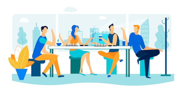 Встреча друзей в суши-баре. выходные свободное время