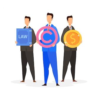 法務コンサルティング会社フラットベクトル図