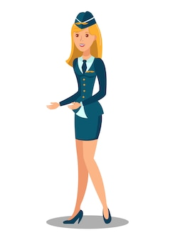 女性用客室乗務員フラット