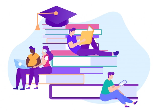 通信教育。独立して文学を学ぶ。