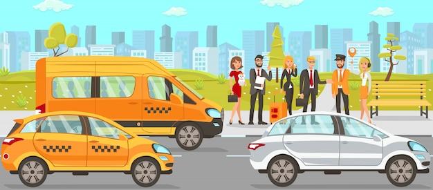 タクシーとドライバーサービス