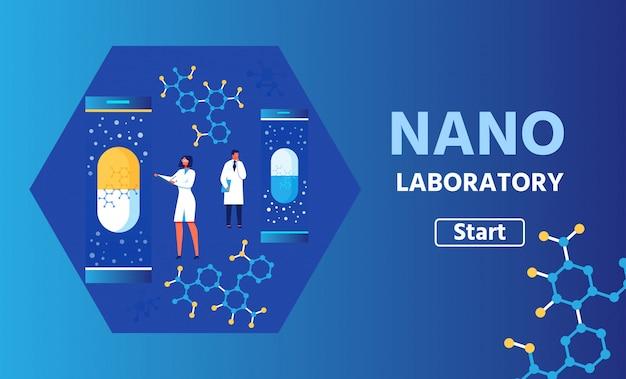 Презентационный баннер для научной нано лаборатории