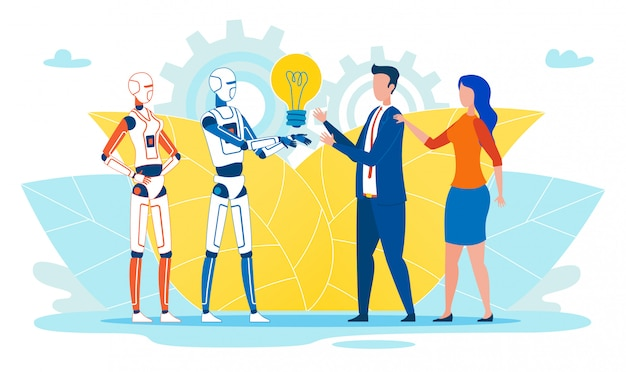 フラットバナー人工知能はアイデアを与えます。
