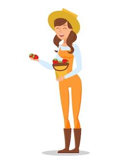 農家販売イチゴキャラクター