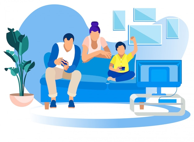 家庭でのゲームパーティー、家族で楽しむレジャーゲーム趣味