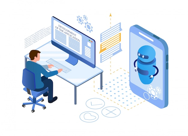 人工知能。チャットボットとマーケティング