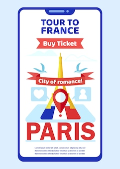 Тур во францию страница мобильного приложения на экране