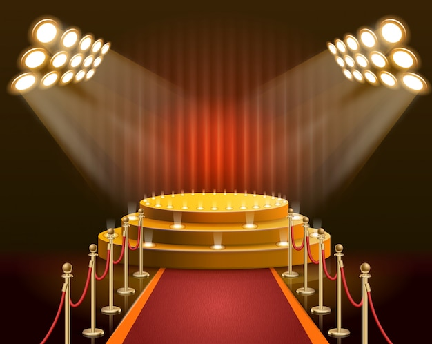 Баннерная сцена для звезд и знаменитостей