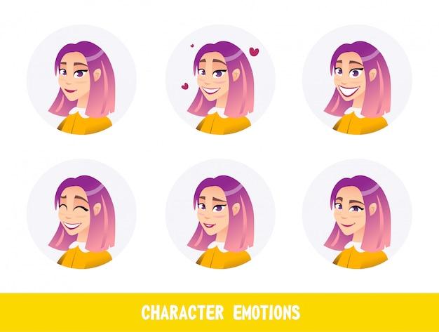 バナーが書かれているキャラクターの感情漫画