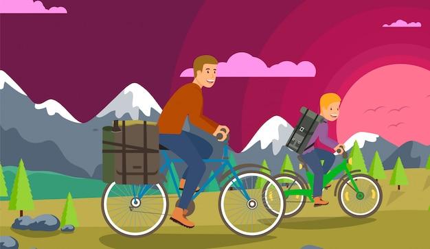 子供と一緒に自転車で旅行する