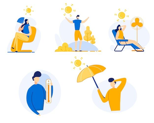 情報チラシは、夏熱漫画フラットを設定します。