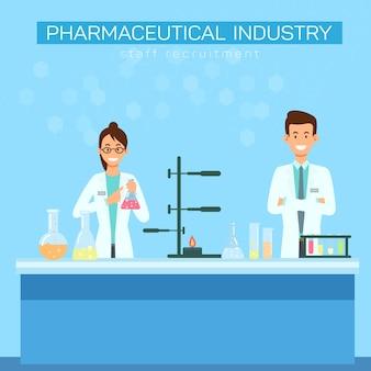 Люди проводят лекцию фармацевтической промышленности
