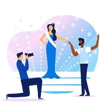 Иллюстрация конкурса красоты