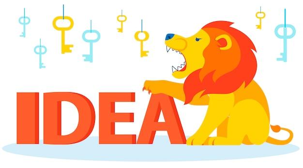 怒っているライオンの保護、アイデアを守る