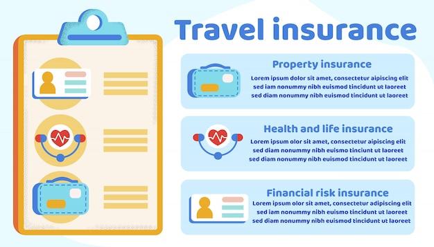 Инфографика информация о страховании путешествий