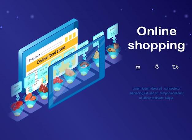 Интернет-магазин, интернет-магазин продуктов питания веб-баннер