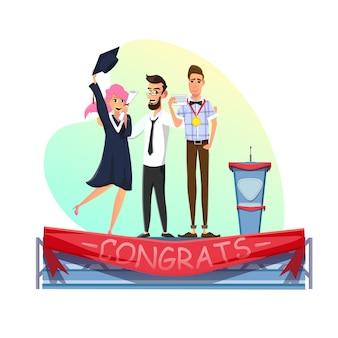 卒業と教育の達成式