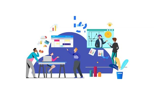ビジネスチームワークのイラスト