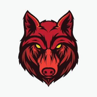 オオカミの頭のアイコン