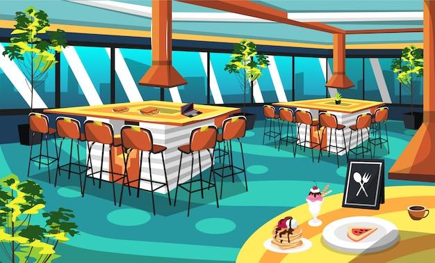 ステーキ&グリルカフェレストランの部屋のアイデア