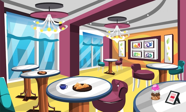 ジェラートアイスクリームカフェのインテリアのアイデア