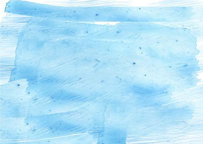 柔らかいブルーの抽象的なインクフロー水彩テクスチャ背景