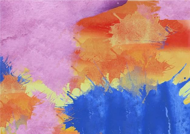 カラフルな抽象的な虹の水彩画の背景