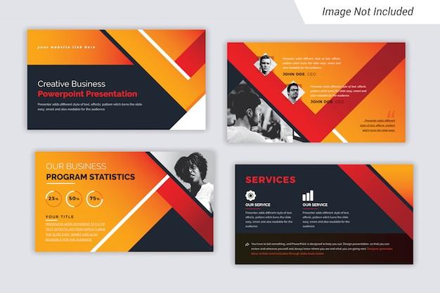 Цвет градиента творческий бизнес-презентация шаблон с фотографией.