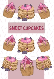 甘いカップケーキ