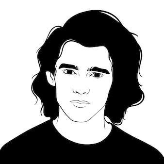 長い髪を持つ男
