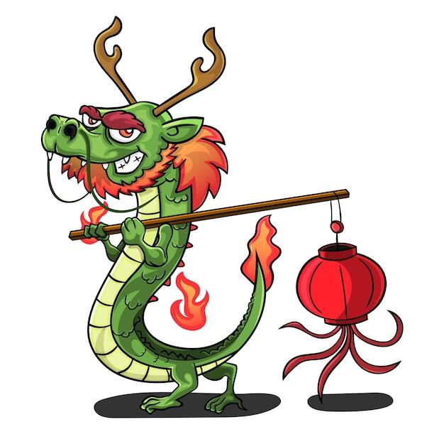 Дракон, несущий фонарь мультфильма