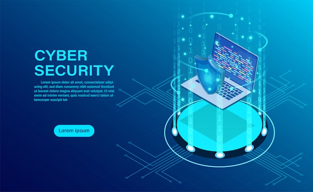 ビジネスマンとバナーは、データと機密性とデータプライバシー保護の概念を保護します