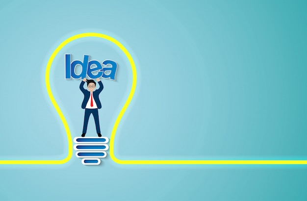 Креативная идея значок лампочки