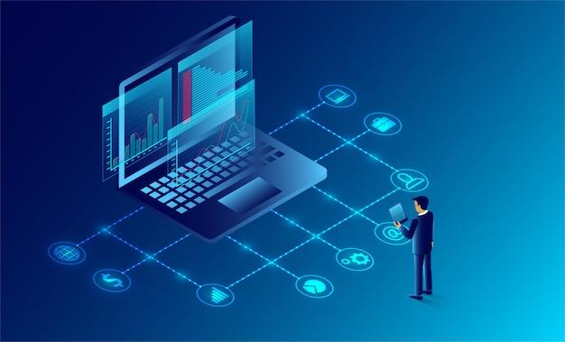 ビジネス分析とコミュニケーション現代のマーケティングと開発のためのソフトウェア。