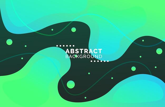 抽象的なグラデーション流体形状の背景