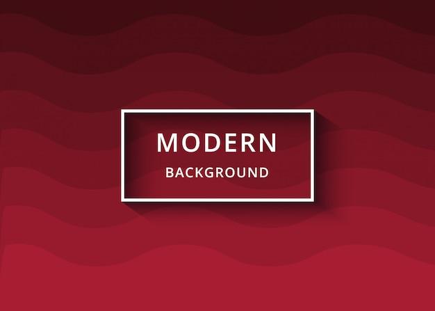 モダンな抽象の赤い波状の背景