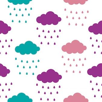 雲のシームレスなパターン